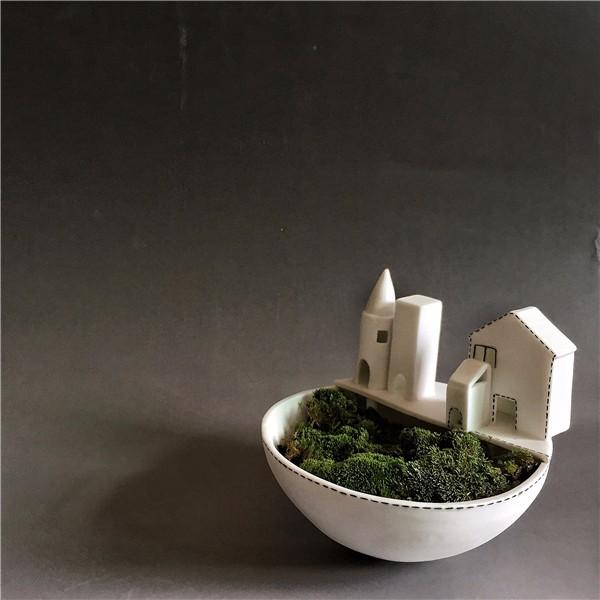 【独白系列】陶艺家阿布原创 纯手工制作植物陶瓷花盆 家居摆件 单件装