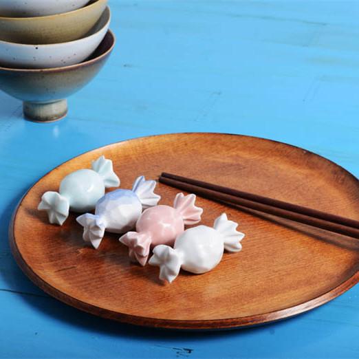 【甜言系列】陶艺家杨凡  陶瓷创意摆件筷架托 4件套