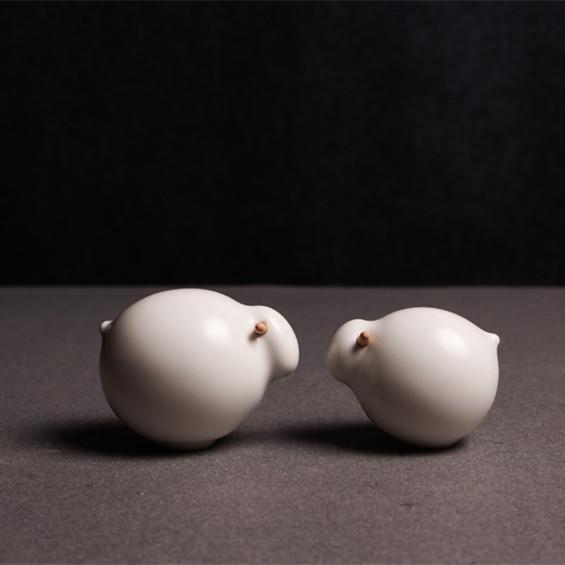 【羊仔系列】陶艺家杨凡  陶瓷创意摆件 大小一对装