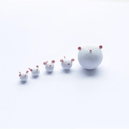 【小猪仔系列】陶艺家孙翊然设计 纯手工制作 创意陶瓷摆件 家居可爱摆件 5件套