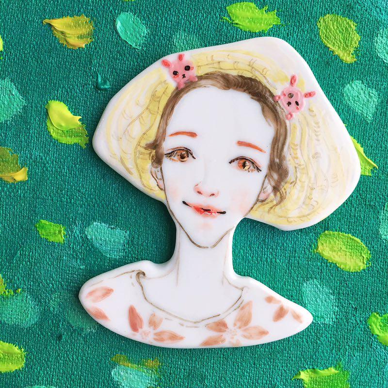 【私人订制胸针】设计师刘欣宇原创  私人订制 手工手绘创意陶瓷胸针 挂饰 礼品 单件装