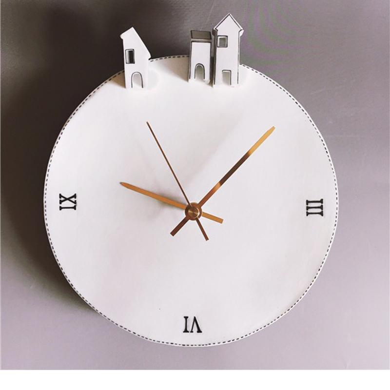 【独白系列】陶艺家阿布原创 手绘陶瓷时钟  家居创意摆件 单件装