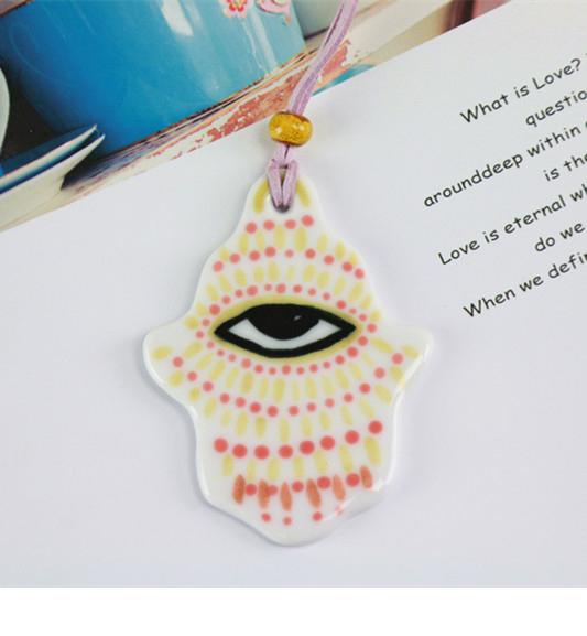 【幸运之手系列】陶艺家Enjee 原创 图腾挂件  手工陶瓷饰品 挂饰 单件装